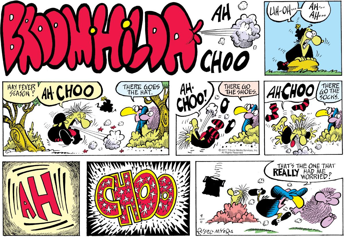 Broom Hilda Comic Strip for September 11, 2011