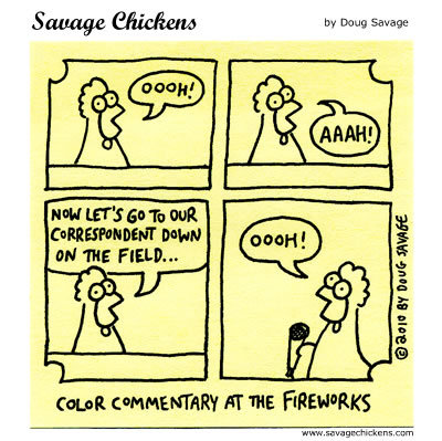 Color Commentary at the fireworks