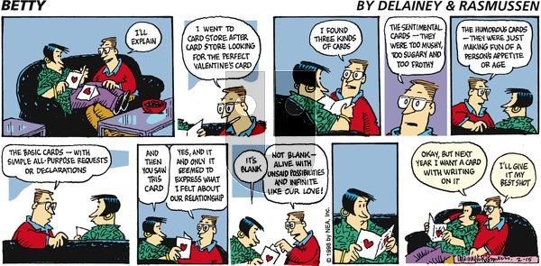 Betty on Sunday February 15, 1998 Comic Strip