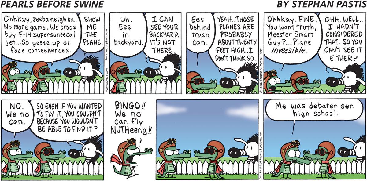 Pearls Before Swine Comic Strip for October 22, 2006
