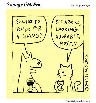 Savage Chickens Comic Strip for May 06, 2020
