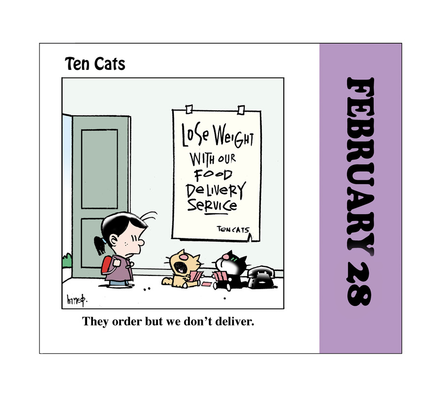Ten Cats Comic Strip for February 28, 2021