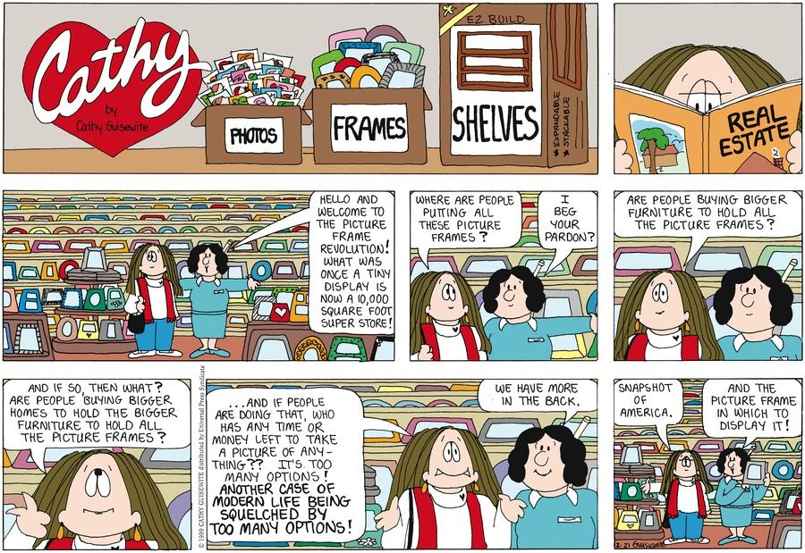 Cathy for Feb 21, 1999 Comic Strip