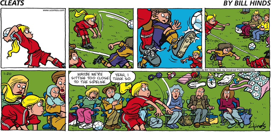 Cleats Comic Strip for January 20, 2002