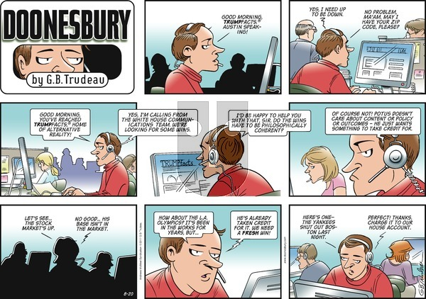 Doonesbury on Sunday August 20, 2017 Comic Strip