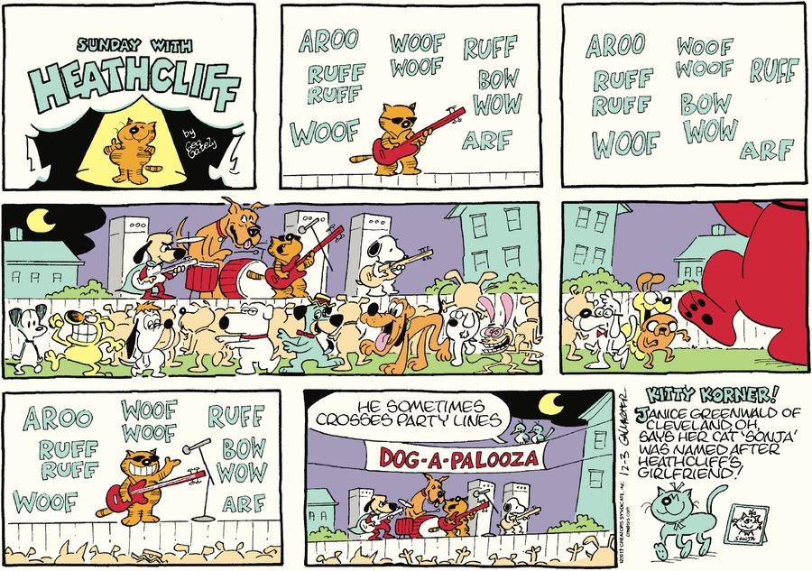 Heathcliff Comic Strip for December 03, 2017