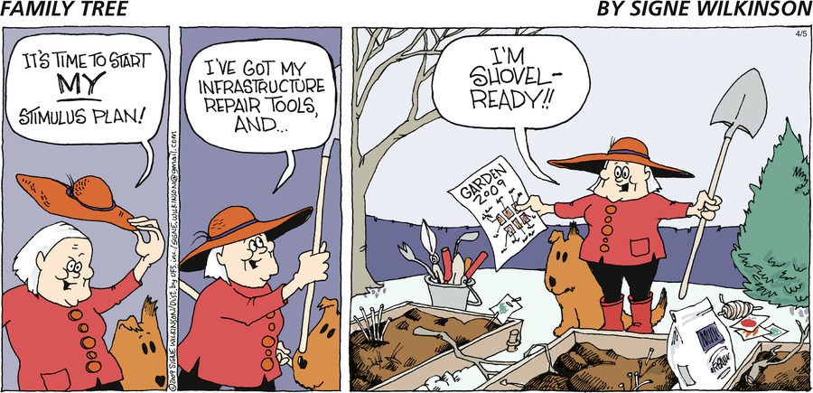 Family Tree Comic Strip for April 05, 2009