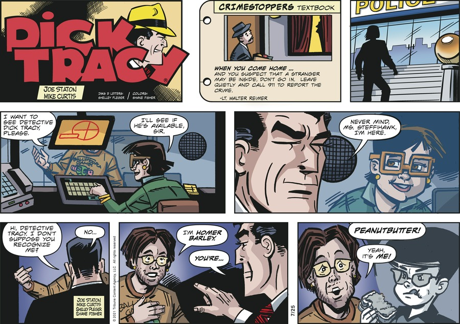 Dick Tracy Comic Strip for July 25, 2021