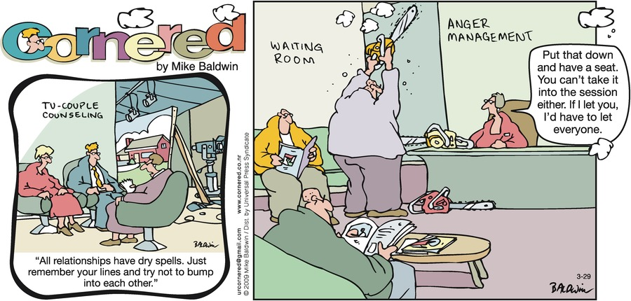 Cornered Comic Strip for March 29, 2009