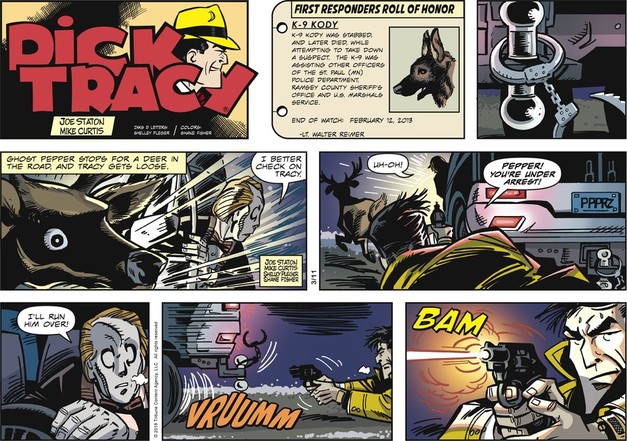 Dick Tracy Comic Strip for March 11, 2018