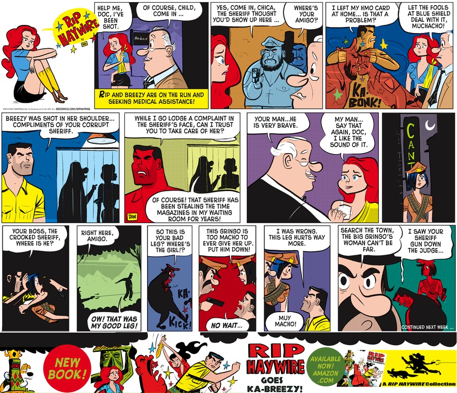 Rip Haywire Comic Strip for June 21, 2015