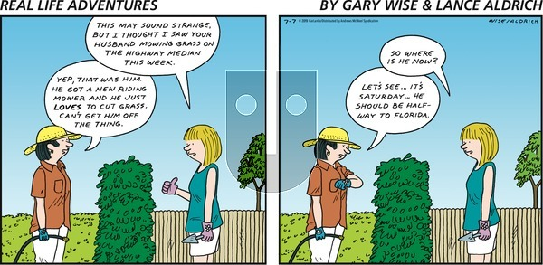 Real Life Adventures on Sunday July 7, 2019 Comic Strip