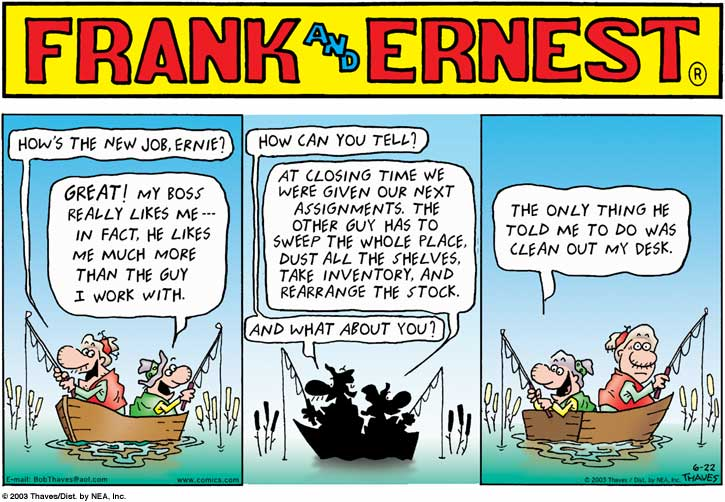 Frank and Ernest Comic Strip for June 22, 2003