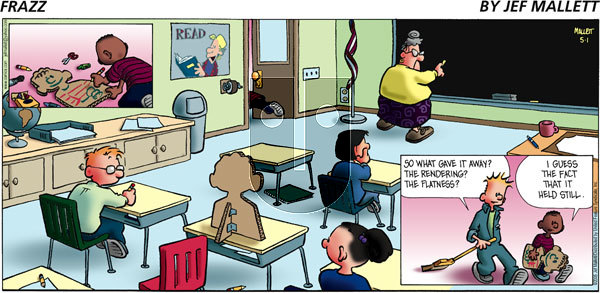 Frazz on Sunday May 1, 2005 Comic Strip
