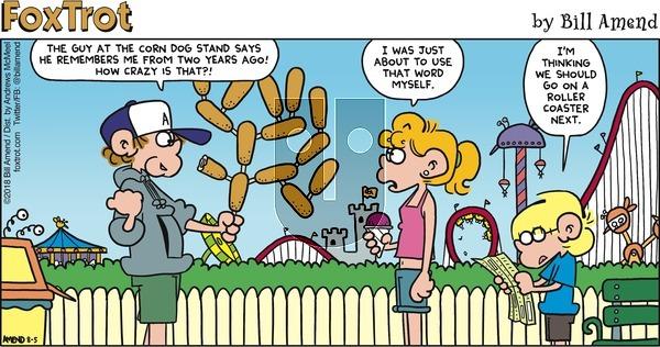 FoxTrot on August 5, 2018 Comic Strip