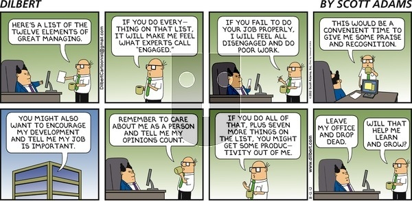 Dilbert - Sunday August 12, 2012 Comic Strip