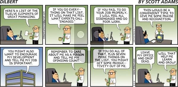 Dilbert on Sunday August 12, 2012 Comic Strip