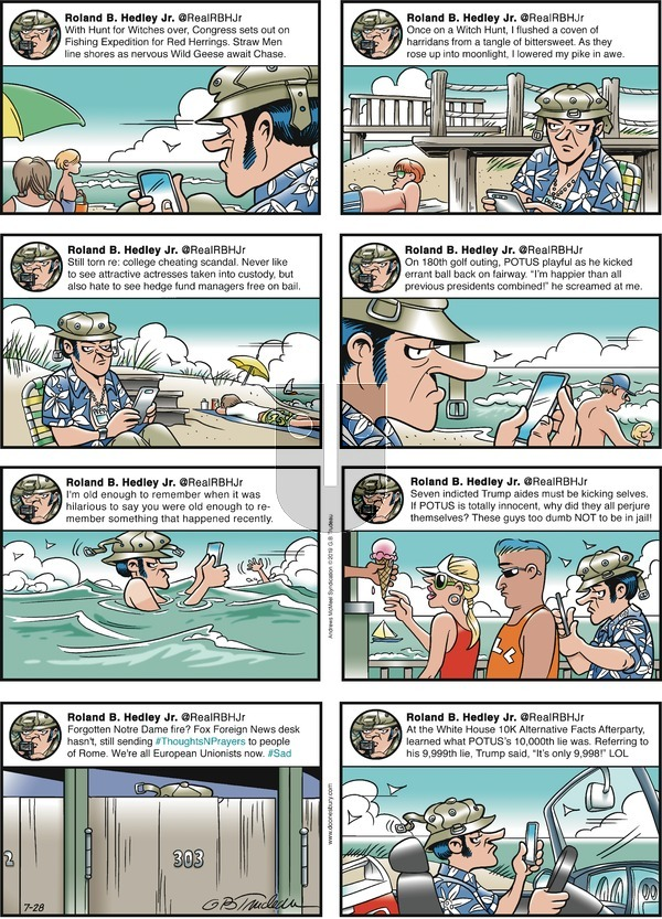Doonesbury on Sunday July 28, 2019 Comic Strip