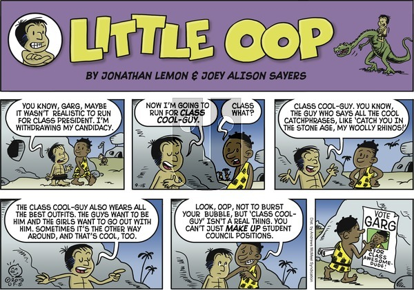 Alley Oop on Sunday September 15, 2019 Comic Strip