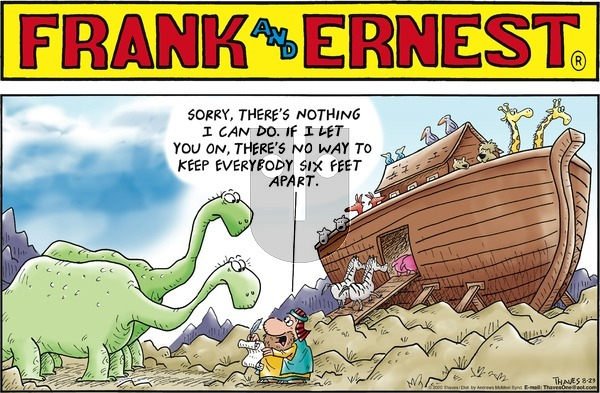 Frank and Ernest - Sunday August 23, 2020 Comic Strip