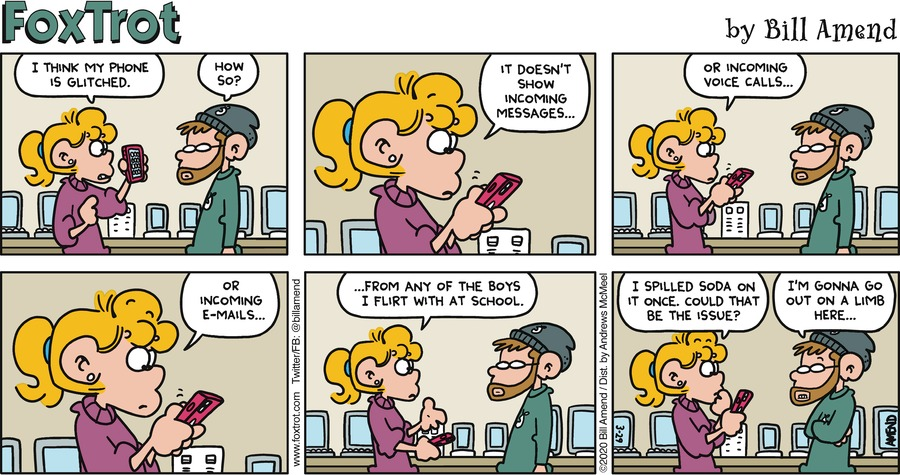 FoxTrot Comic Strip for March 29, 2020
