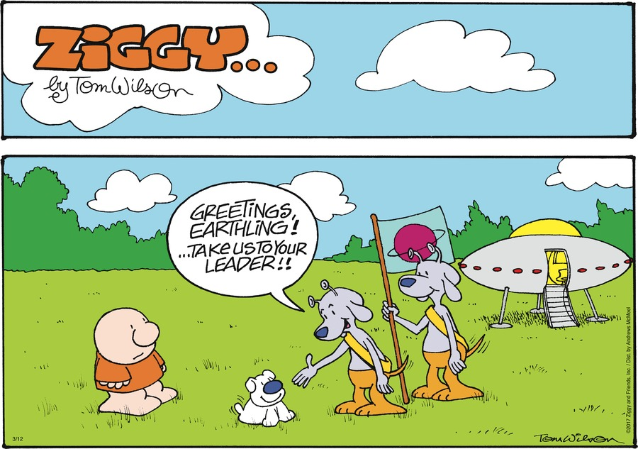 Ziggy Comic Strip for March 12, 2017