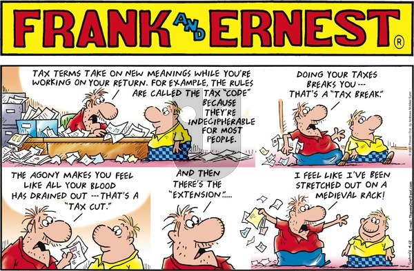 Frank and Ernest on Sunday April 12, 2020 Comic Strip