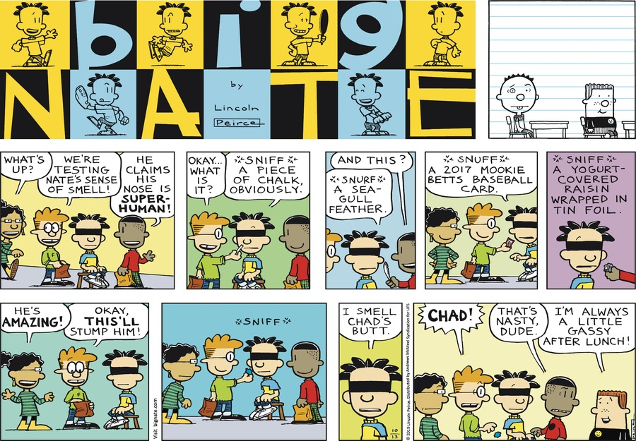 Big Nate Comic Strip for October 13, 2019