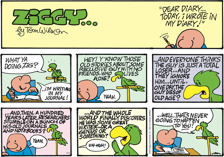 Ziggy Comic Strip for January 12, 2020