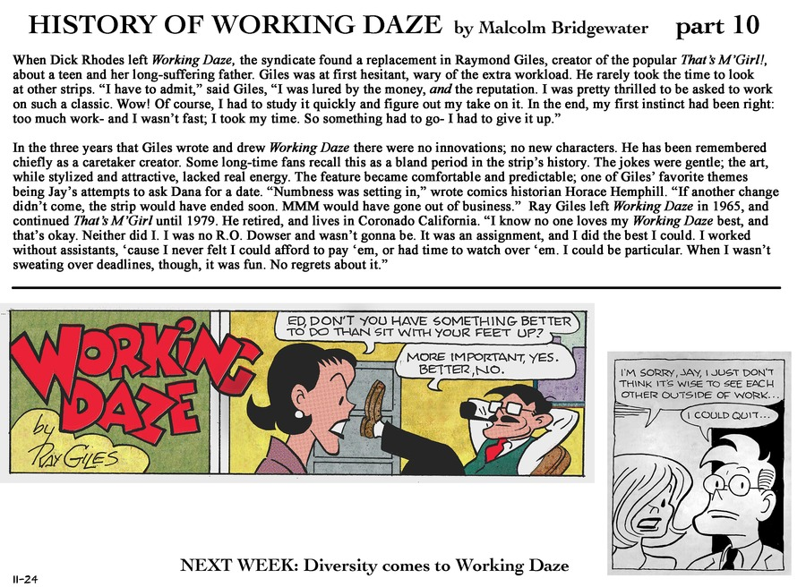 Working Daze Comic Strip for November 24, 2013