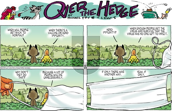 Over the Hedge on Sunday October 25, 2020 Comic Strip