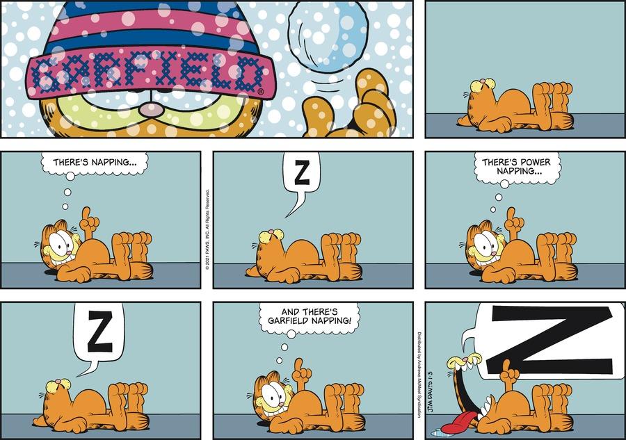 Garfield Comic Strip for January 03, 2021