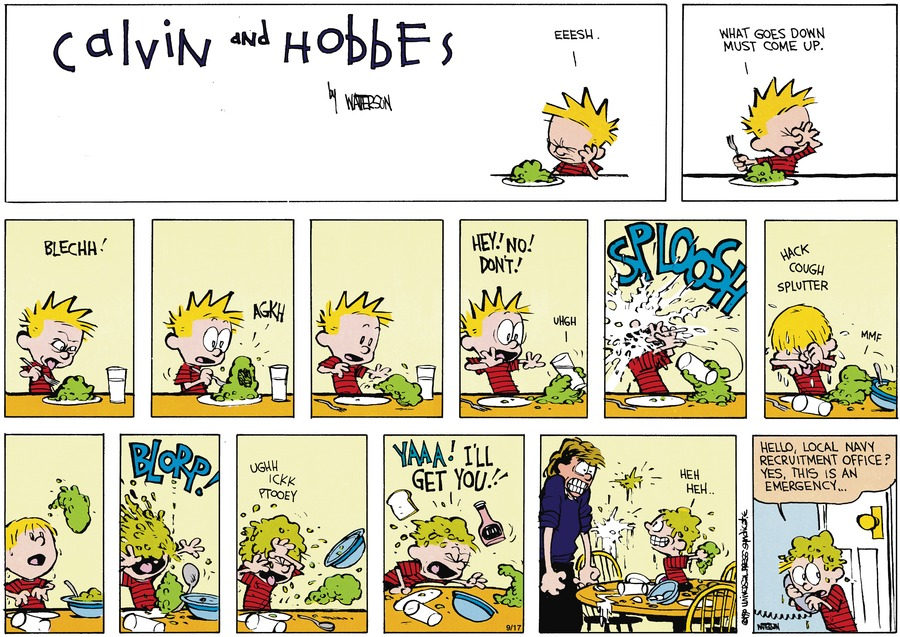 Calvin and Hobbes Comic Strip for November 04, 1990