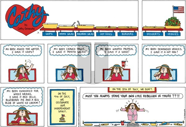 Cathy on Sunday July 5, 2009 Comic Strip