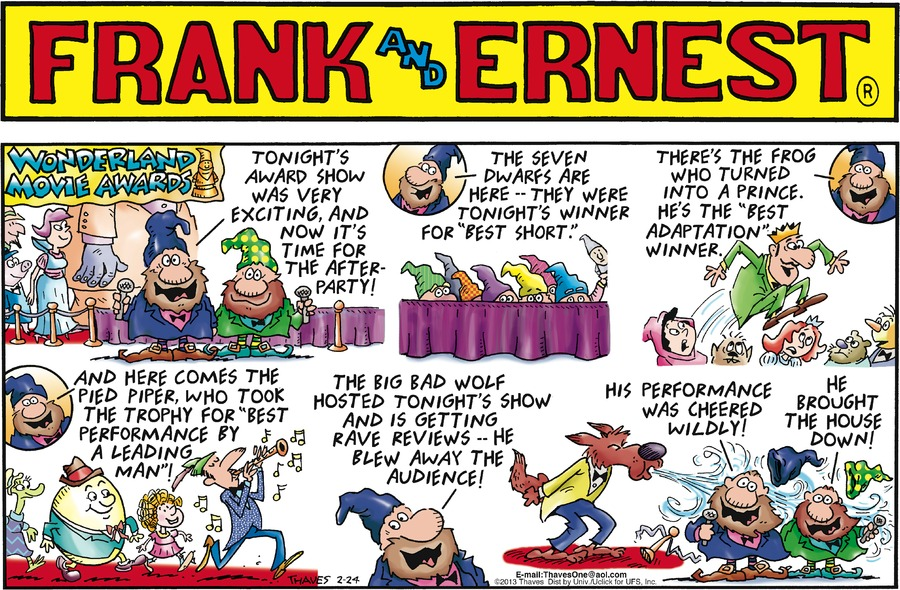 Frank and Ernest Comic Strip for February 24, 2013