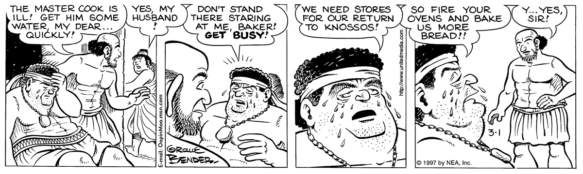 Alley Oop for Mar 1, 1997 Comic Strip