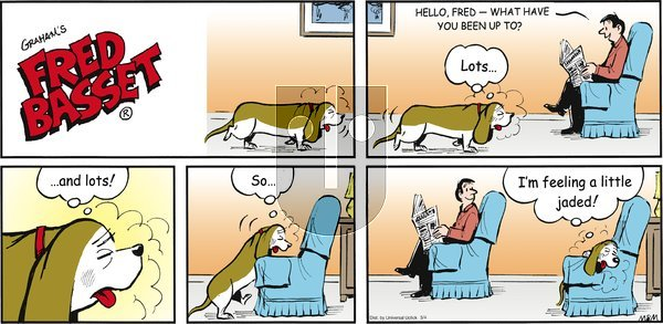 Fred Basset on Sunday March 4, 2012 Comic Strip