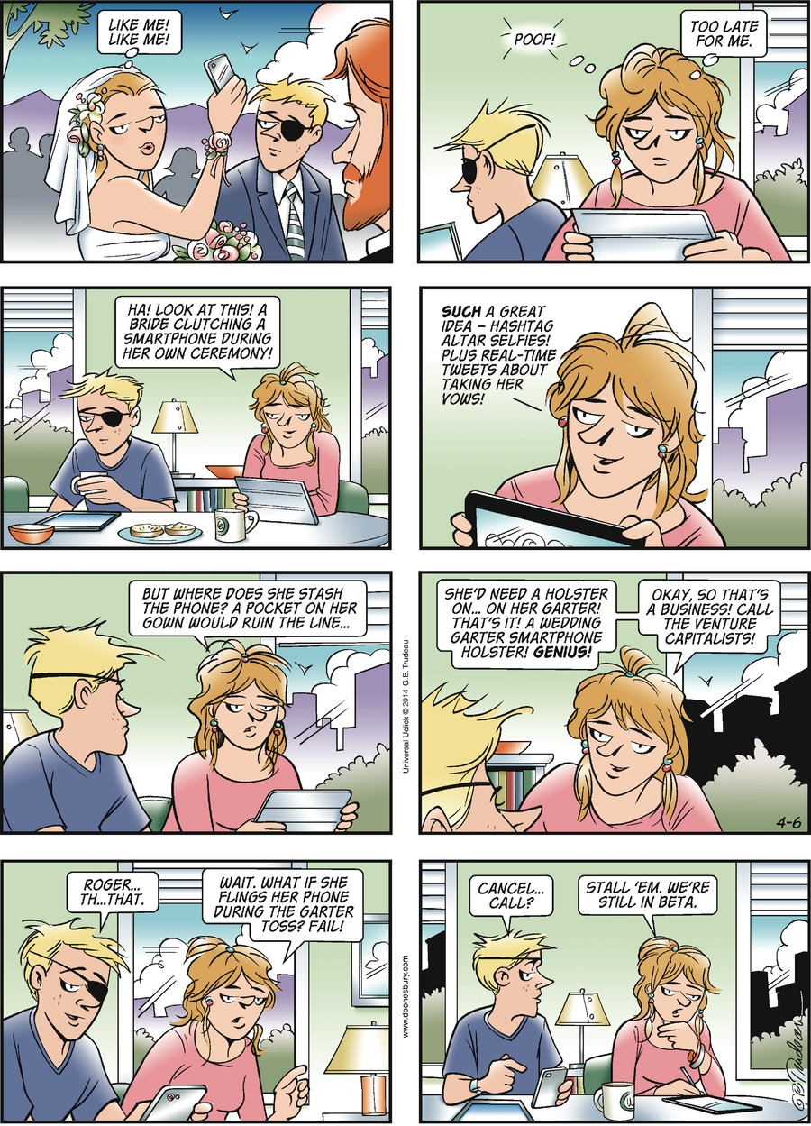 Doonesbury Comic Strip for April 06, 2014