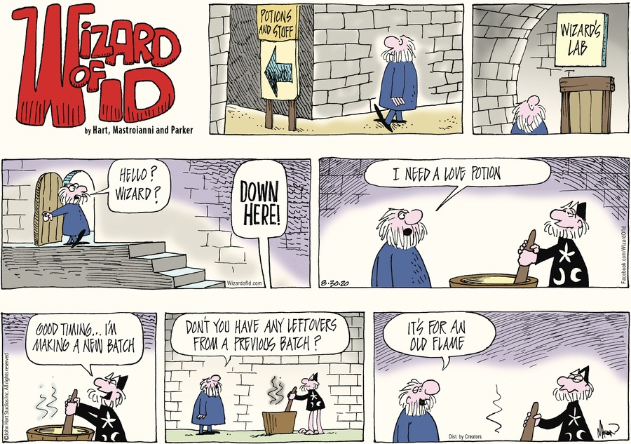 Wizard of Id Comic Strip for August 30, 2020