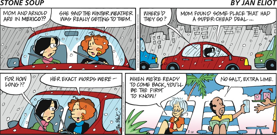 Stone Soup Comic Strip for February 10, 2019
