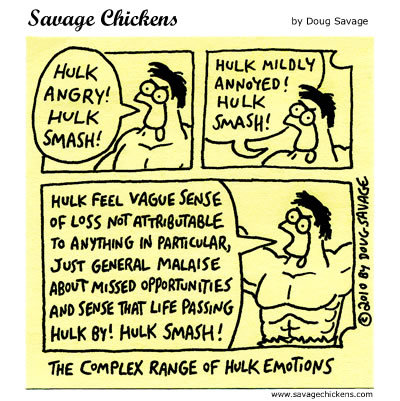 Savage Chickens for Aug 4, 2014 Comic Strip
