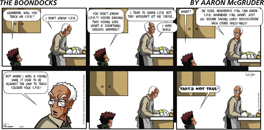 The Boondocks Comic Strip for August 02, 2020