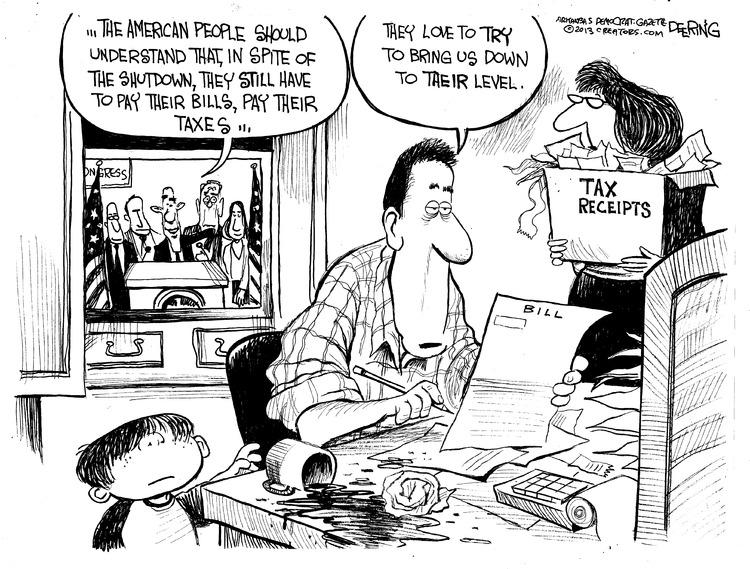 John Deering for Oct 13, 2013 Comic Strip