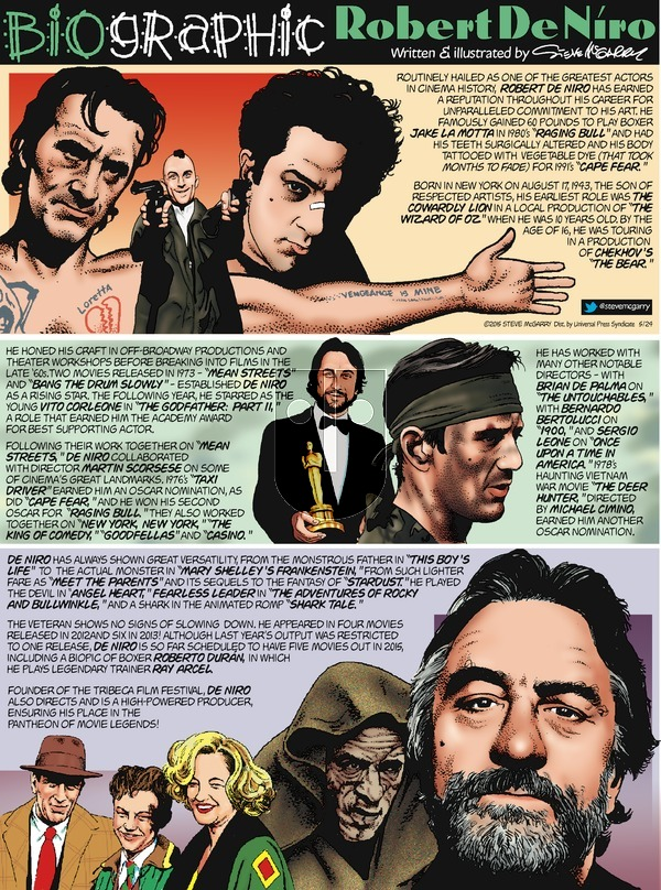 Biographic on Sunday May 24, 2015 Comic Strip