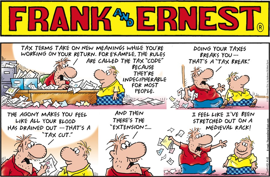 Frank and Ernest Comic Strip for April 12, 2020