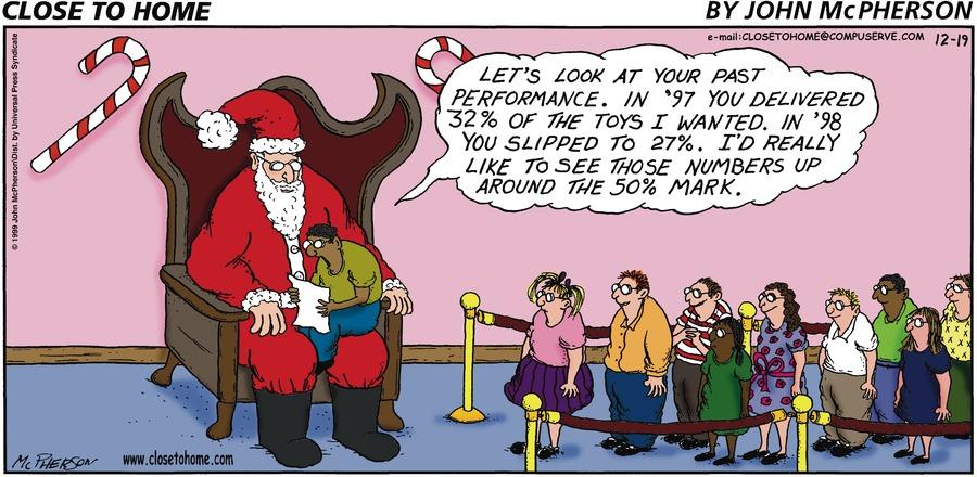 Close to Home for Dec 19, 1999 Comic Strip