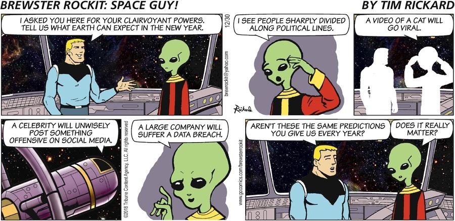 Brewster Rockit Comic Strip for December 30, 2018