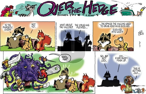 Over the Hedge on Sunday March 7, 2021 Comic Strip
