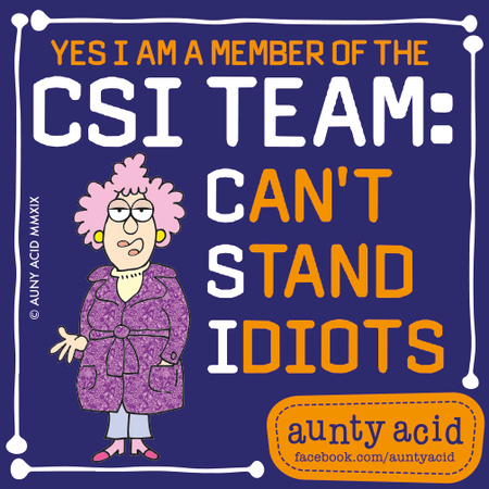 Aunty Acid by Ged Backland for March 01, 2019