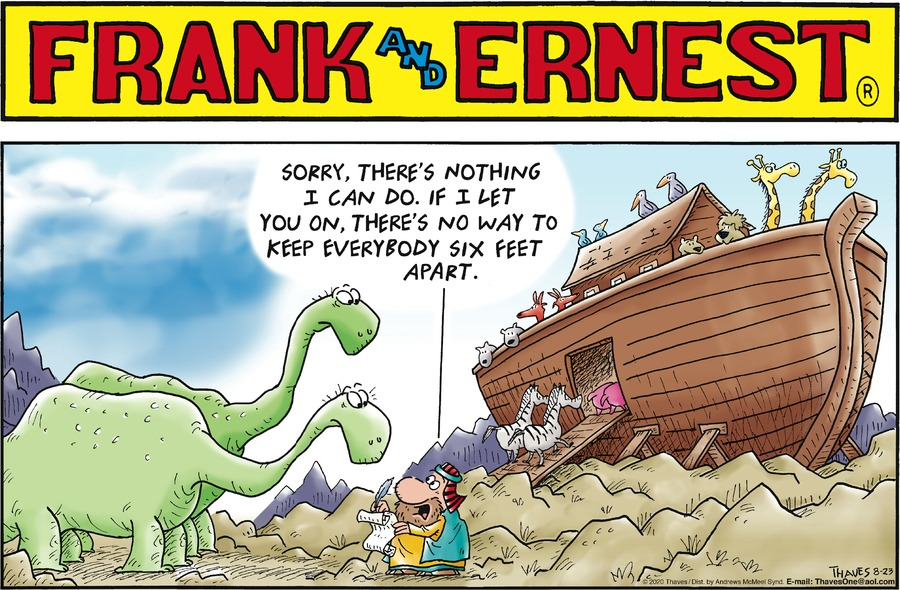 Frank and Ernest Comic Strip for August 23, 2020